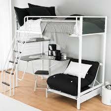 bunk bed with futon bunk bed with futon and desk argos the twin