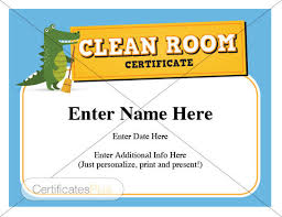 parenting certificate templates kid certificate clean room award child certificates kids gift
