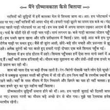 essay on experience of summer vacation in hindi at  essays com euessay on experience of summer vacation in hindi pic