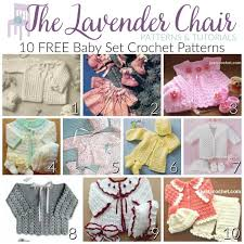Baby Patterns Amazing FREE Baby Set Crochet Patterns The Lavender Chair