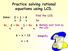 4 practice solving rational equations