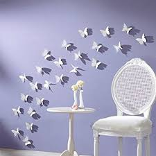 Small Picture White 24PCS 3D Butterfly Wall Stickers Decor Art Decorations 3