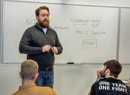veterans transition to college civilian life freshman david chrisinger teaching photo courtesy university of wisconsin stevens point