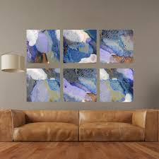 set of 6 bold colorful abstract square canvas prints 41 44 on colorful abstract canvas wall art with set of 6 bold colorful abstract square canvas prints 41 44