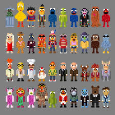 muppet characters. Modren Characters Sesame Street And Muppet Characters 8 Bit By LustriousCharming  In