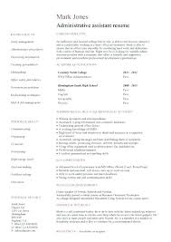 Resume Objectives For Administrative Assistant New Example Administrative Assistant Resume Entry Level Administrative
