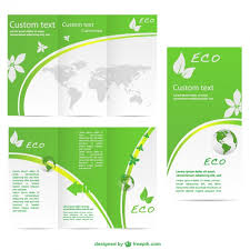 Pamphlet Template Free Green Brochure Template Vector Free Download