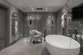 modern bathroom color schemes. Exellent Color Bathroom Color Scheme For Modern Bathroom Be Equipped Freestanding Bathtub  Oval And Hanger Towel Rail Plus Shower Glass Panel Luxury Design And Modern Color Schemes T