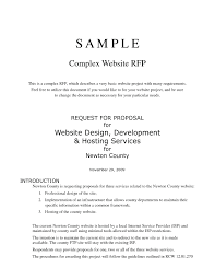 Sample Proposal For Website Design And Development Pdf Introduction For Business Plan Sample Resume Package Plans