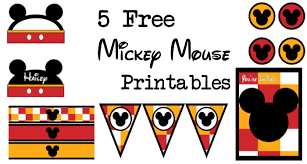 Mickey Mouse Party Printables Free Five Mickey Mouse Free Printables Paper Trail Design