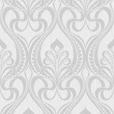 grandeco art nouveau damask pattern wallpaper art deco metallic glitter 113002