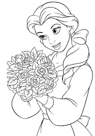 Small Picture Belle Coloring Page Belle Coloring Page Colouring Pages