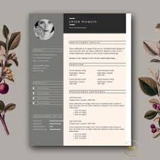 Modern Cv Template Creativemarket Template And Chic