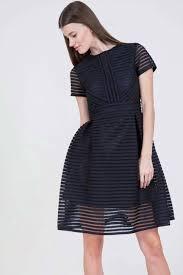 Designer Long Skirt Dresses Rent Catherine Malandrino Short Sleeve Balloon Skirt Dress