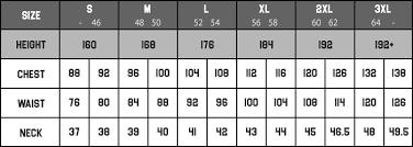 Apparel Size Chart Mariobeky Com