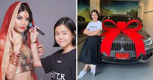 12yo makeup artist from thailand s herself a bmw as birthday present