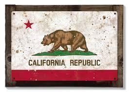 grunge california state flag california