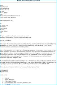 Physician Assistant Sample Resume Amazing Physician Assistant Cover Letter As Cover Letter For