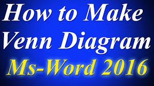 Microsoft Office Venn Diagram How To Make Venn Diagram By Using Smartart Tools In Ms Word 2016