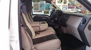 ford f350 two tone leather interior w contrast stitch