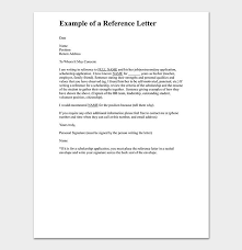 Personal Reference Letter 15 Free Samples Examples Formats