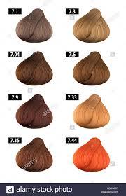 Orange Hair Colour Chart Haircolor And Hair Dye Colours Chart Colour Numbers 7