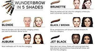 Wunderbrow Shades Chart Wunderbrow Eyebrow Gel By Wunder2 Black Brown Buy Online