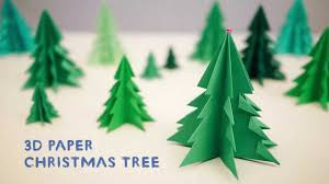3D Paper Christmas Tree - YouTube