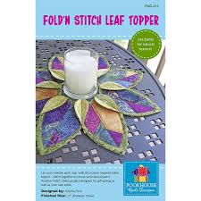 Poorhouse Quilt Design Library Video Tutorials Fold N Stitch Leaf Topper Pattern Poorhouse Quilt Designs
