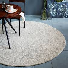 6 ft round rug. Vines Wool Rug Round West Elm Intended For Gray Prepare 16 6 Ft