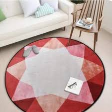 3d retro wall clock round floor mat living room carpets rugs anti slip tea table mats