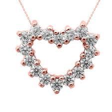 gb61674r 553 instock s goldboutique com diamond open heart pendant necklace in rose gold gb61674r gold boutique