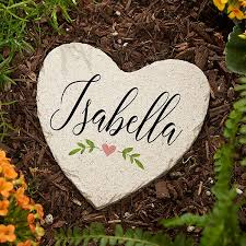 personalized heart garden stones let love grow 20471