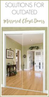 image mirrored closet door. design solutions for outdated mirrored closet doors image door d