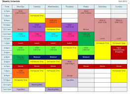 create college class schedule all work and no play how to create a balanced schedule