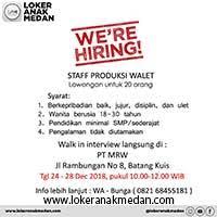 Jika masih kuliah bisa freelance 4. Lowongan Kerja Pt Mega Ratu Walet Loker Anak Medan