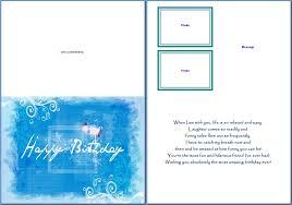 Birthday Card Templates Microsoft Word Greeting Card Template Ms Word Rome Fontanacountryinn Com