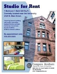 House For Rent Flyer Template Word Apartment For Rent Flyer Template