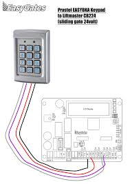how to wire easyka keypad to cb control please attatched the diagram showing how the easybka wires onto the liftmaster cb224 control panel