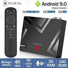 Mecool K5 Android 9.0 Amlogic S905X3 Quad Core DVB S2 T2 Smart TV Box 4K  Dual Wifi 2GB 16GB Set Top Box Mendukung PVR Rekaman|Set-top Box