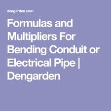 Conduit Bend Multipliers Formulas And Multipliers For Bending Conduit Or Electrical Pipe Pipes