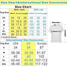 Unisex T Shirt Size Conversion Chart 14 Men U S And Unisex Uniforms Size Chart Return To Top