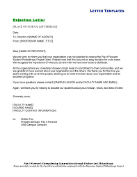 formal project rejection letter