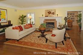 Persian Rug Living Room Occupied Home Staging A Los Angeles Living Room