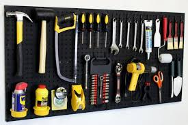 wall mount pegboard tool organizer kit