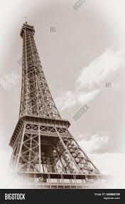 The eiffel tower is now 6 metres higher than its former 'rival', the chrysler building, thanks to its new antennas! Eiffel Tower Vintage Image Photo Free Trial Bigstock