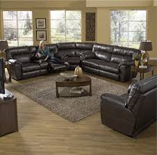 Designers Overstock Ozark Mo Ryan 3 Piece Reclining Sectional Leather Reclining
