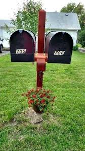 Vinyl Mail Box Posts Dual Mailbox Post Double Wood Within Plans