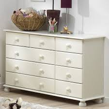 Steens Richmond White Extra Large 2+3+4 Drawer Chest Of Drawers ...