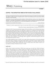 Gopro Organizational Chart Gopro The Disruptive Innovator Faces Challenges1 Studocu